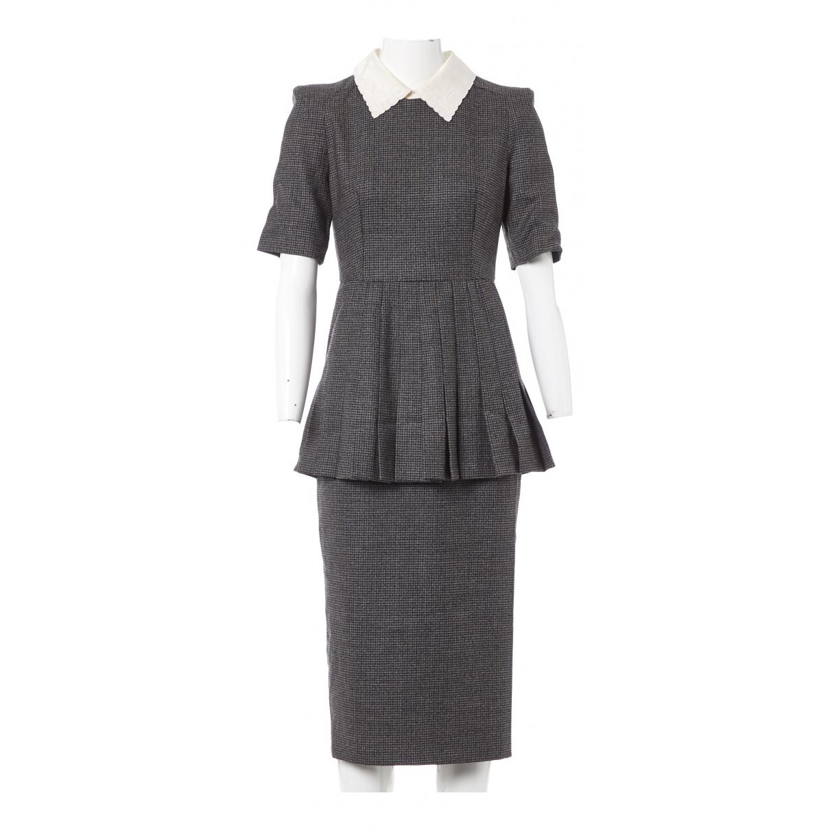 Fendi \N Kleid in  Grau Wolle