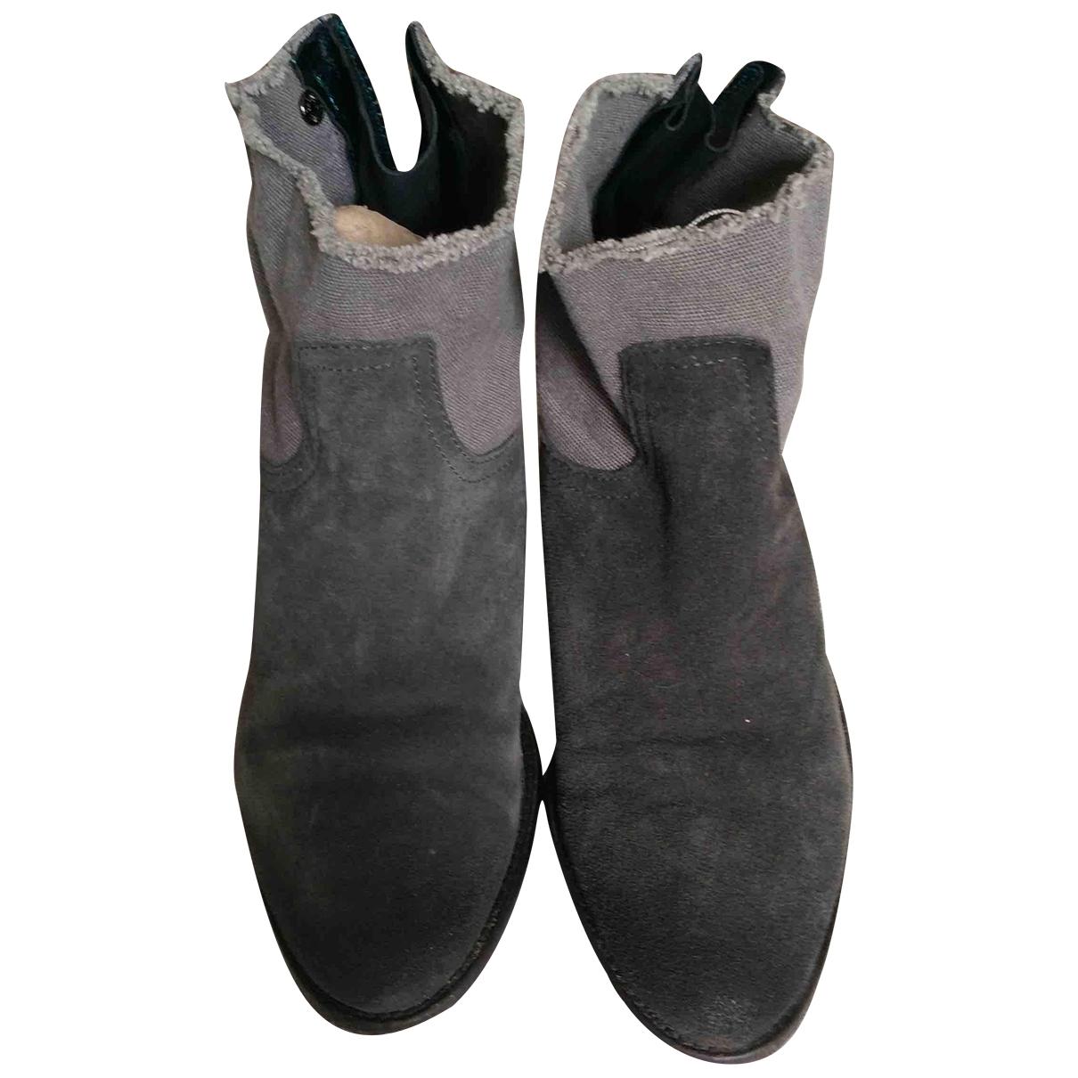 Zadig & Voltaire - Boots   pour femme en suede - gris