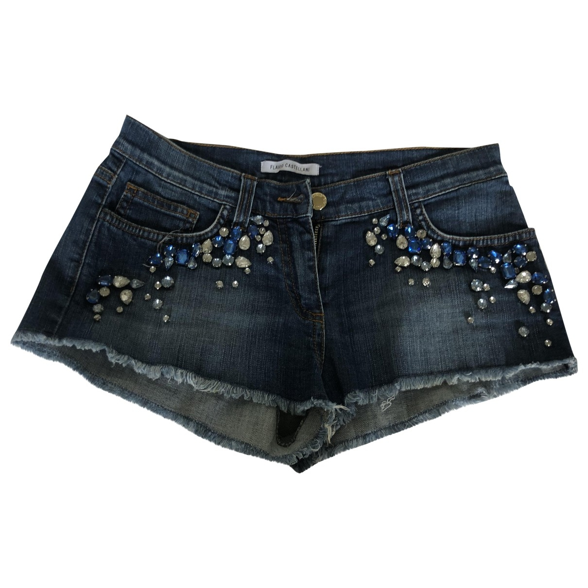 Flavio Castellani \N Blue Denim - Jeans Shorts for Women 40 IT