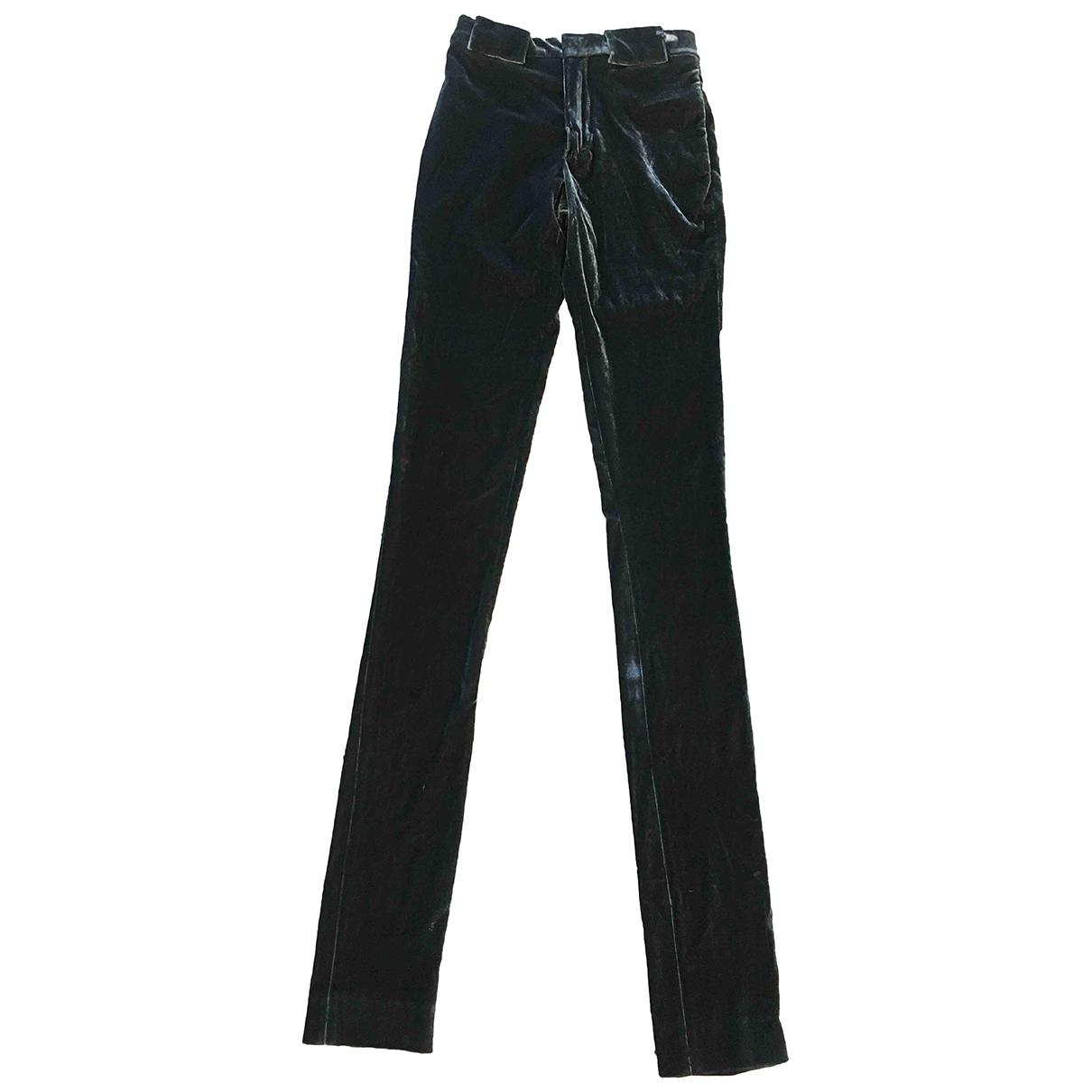 Pantalon pitillo de Terciopelo Jean Paul Gaultier