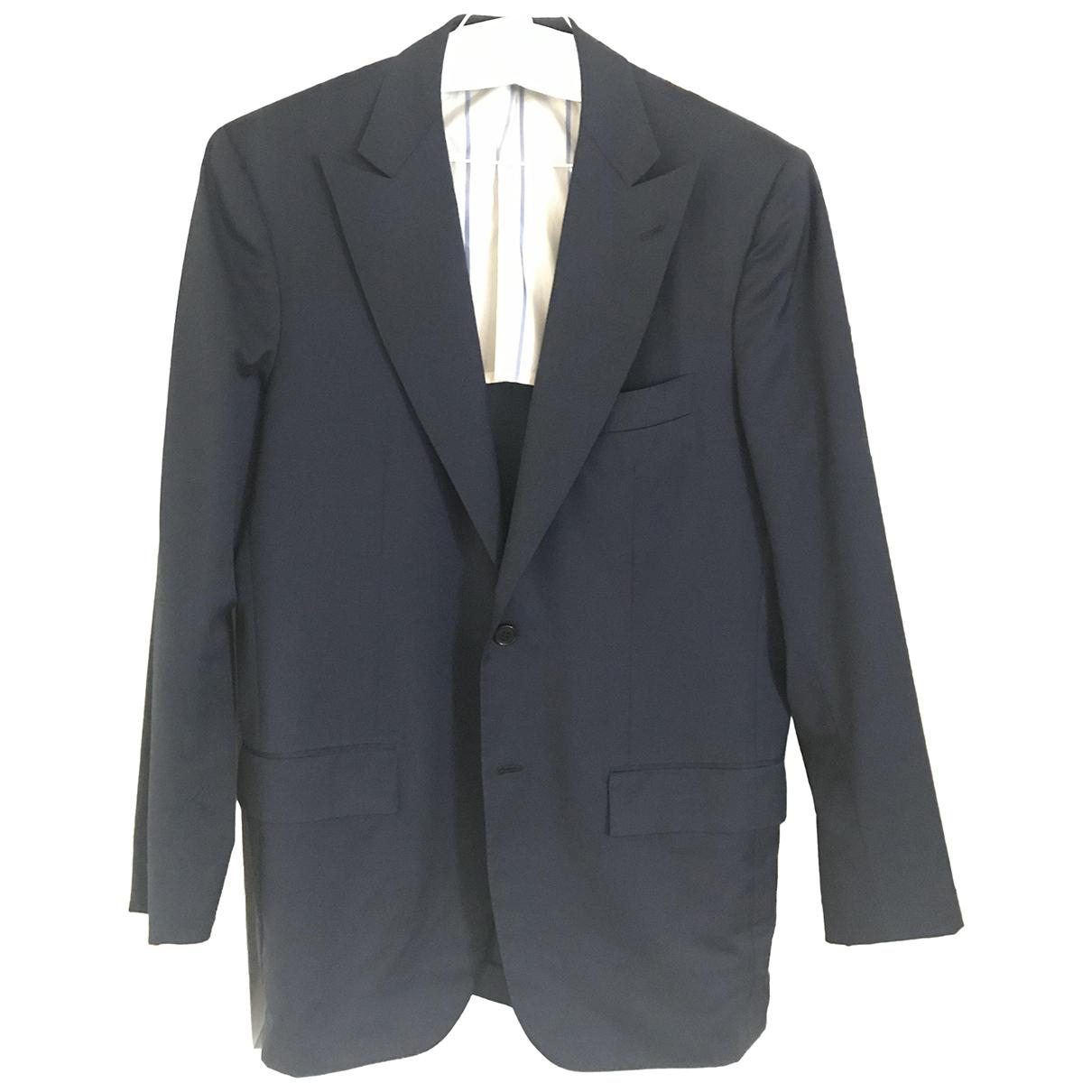 Kiton \N Blue Wool jacket  for Men 50 IT