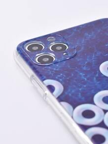 1pc Swimming Ring Print iPhone Case