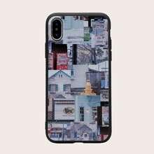 1 Stueck iPhone Huelle mit Gebaeude Muster