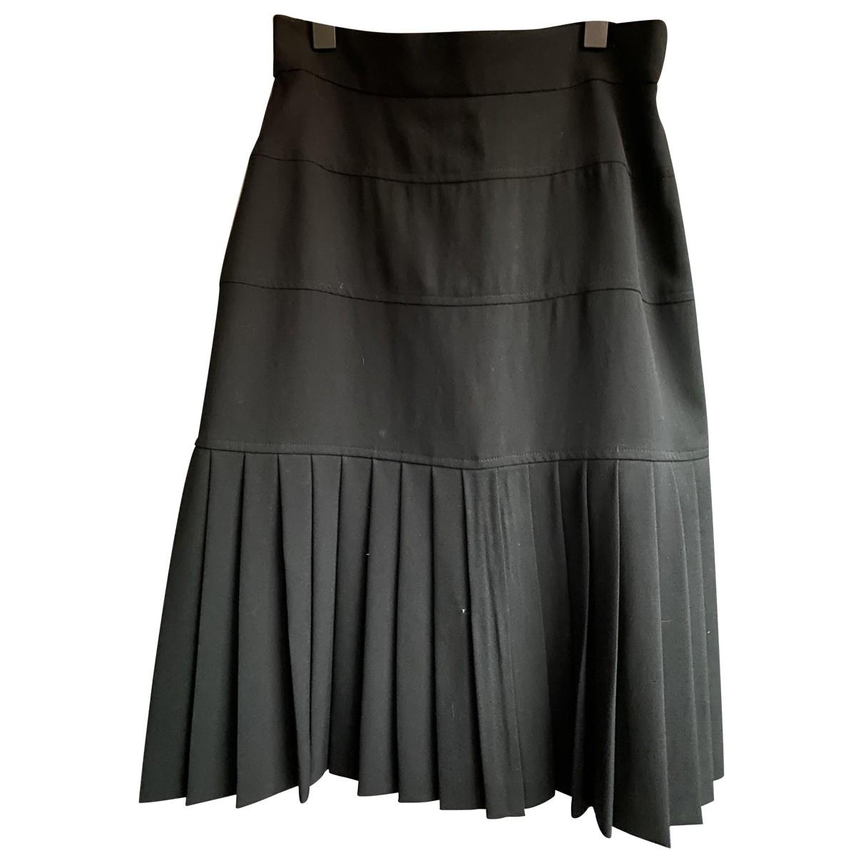 Karl Lagerfeld - Jupe   pour femme en laine - noir