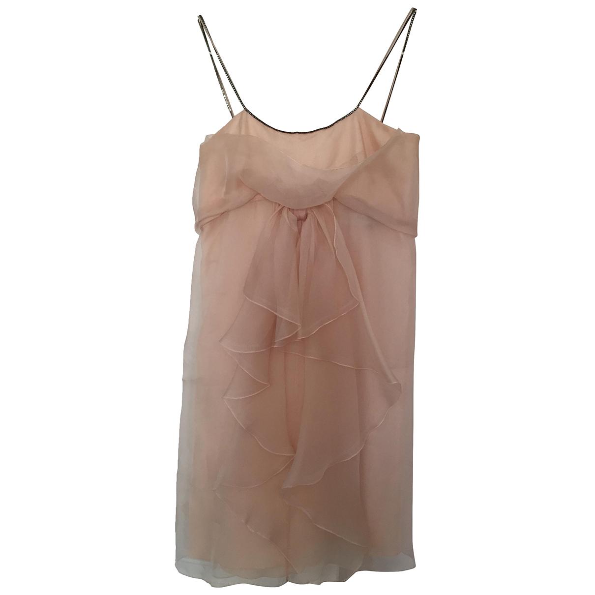 Tara Jarmon \N Kleid in  Rosa Seide