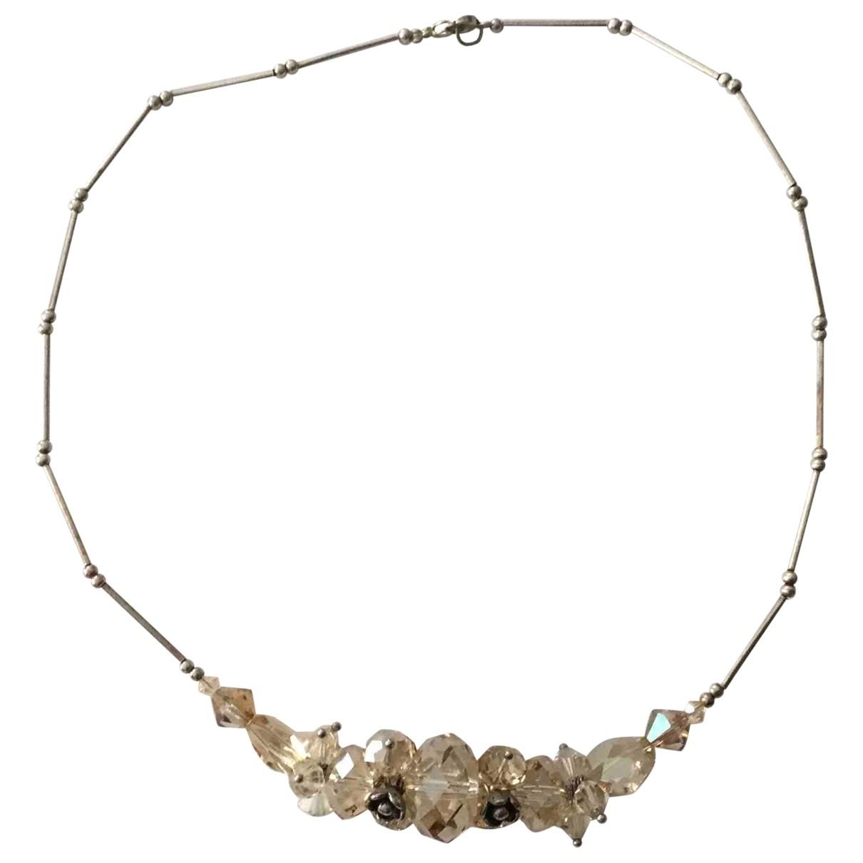 - Collier Motifs Floraux pour femme en cristal - dore