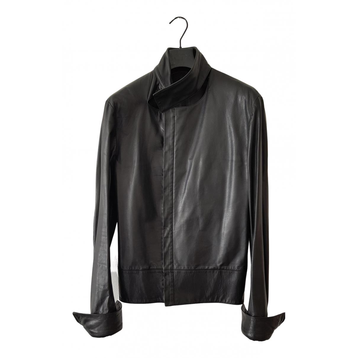 Dior Homme \N Jacke in  Schwarz Leder