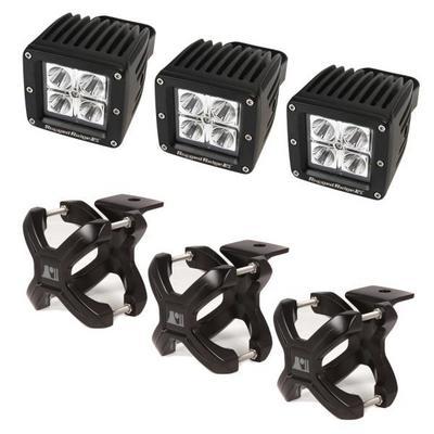 Rugged Ridge Square LED Light and X Clamp Kit - 15210.03