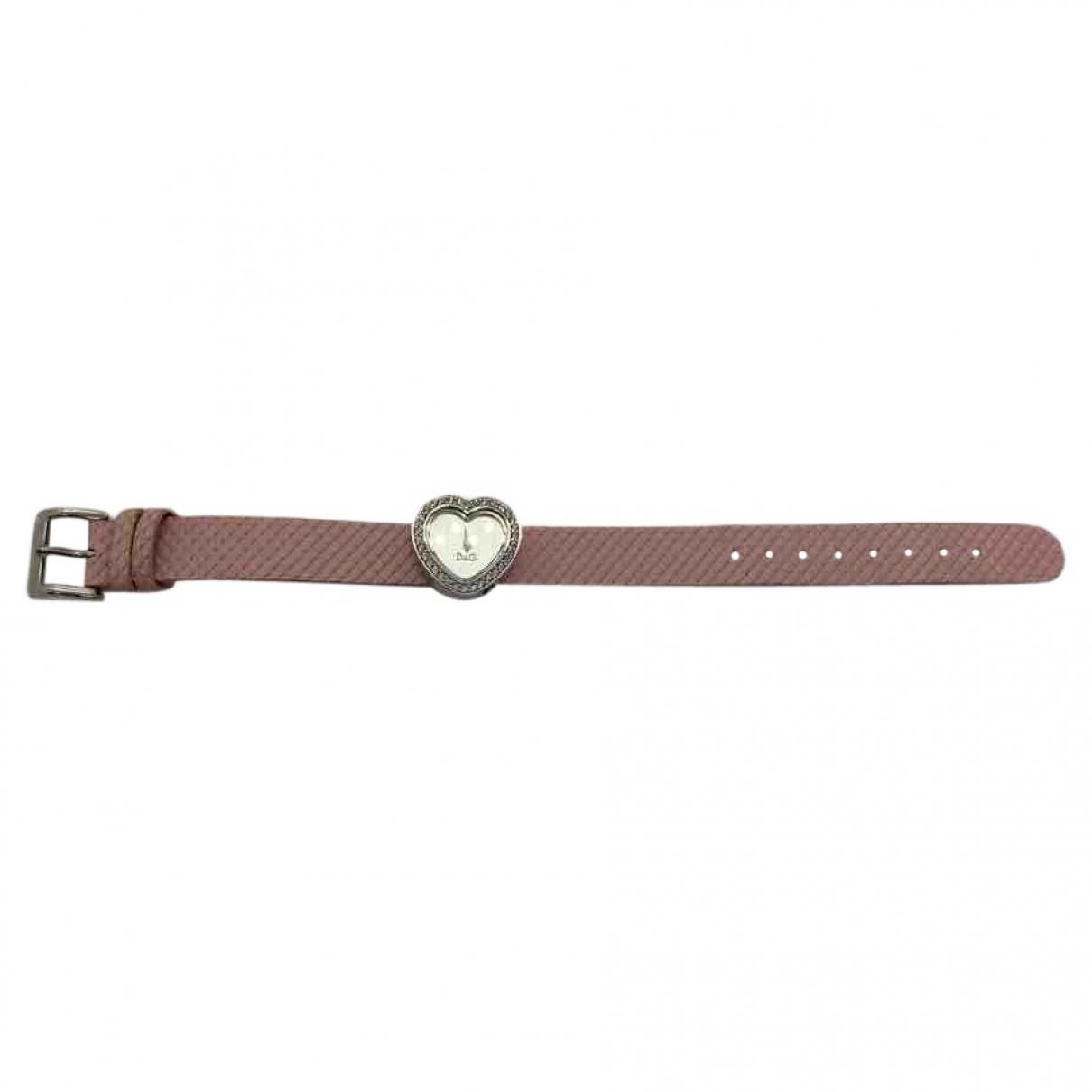 D&g \N Pink Steel watch for Women \N