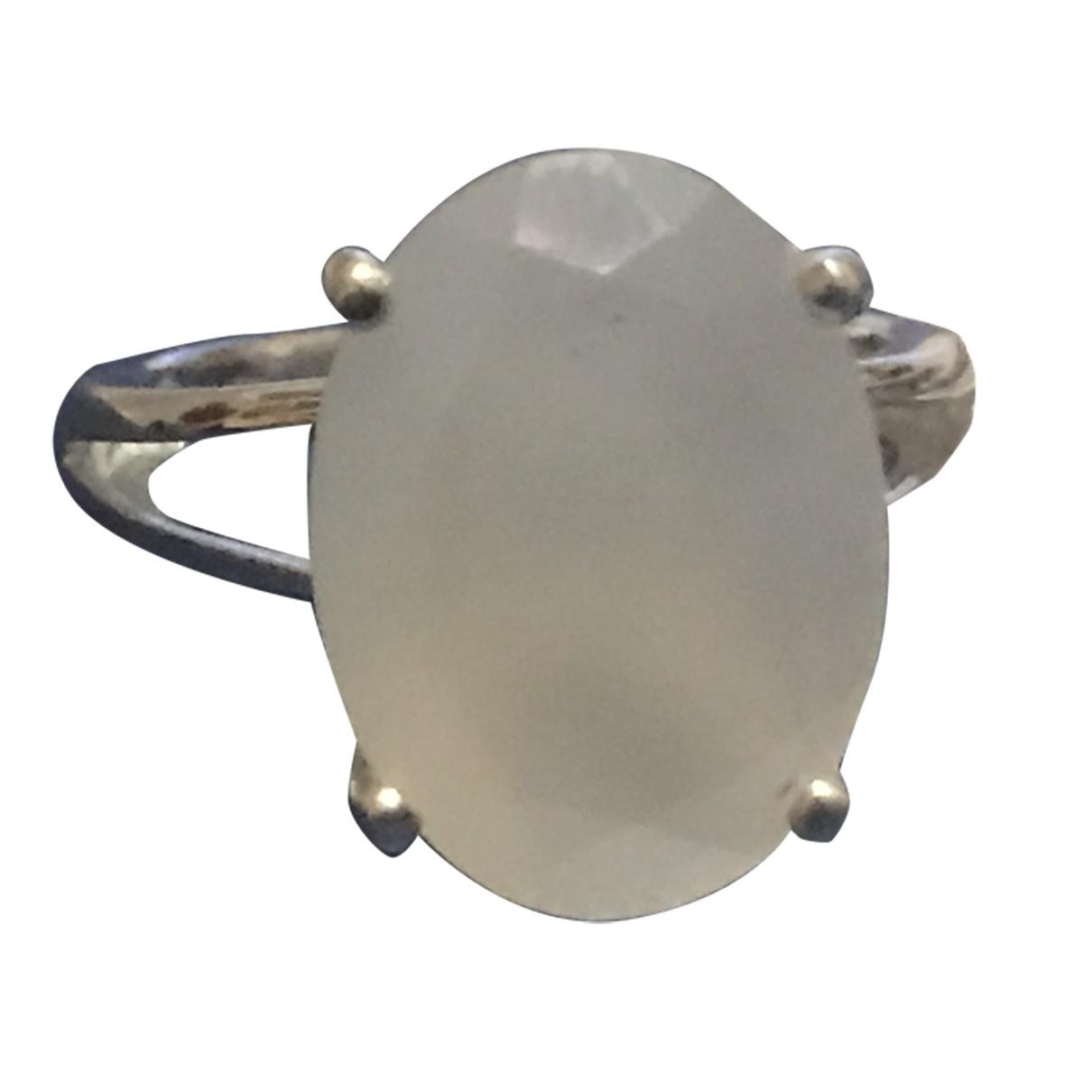 - Bague Opale pour femme en argent - blanc