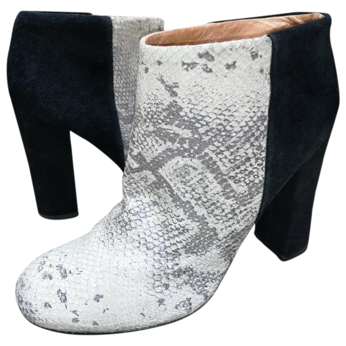 Joie - Boots   pour femme en cuir - noir