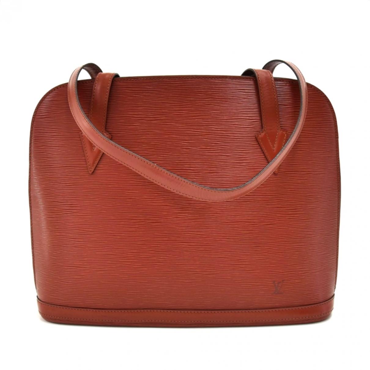 Louis Vuitton Lussac Handtasche in  Braun Leder