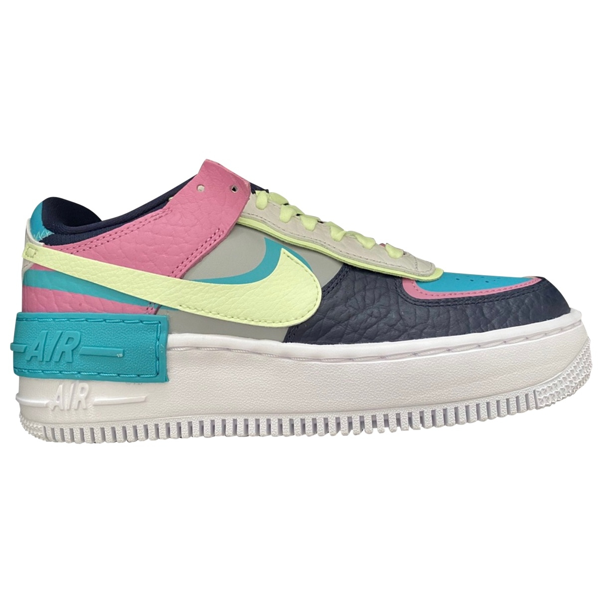 Nike Air Force 1 Black Leather Trainers for Women 36 EU