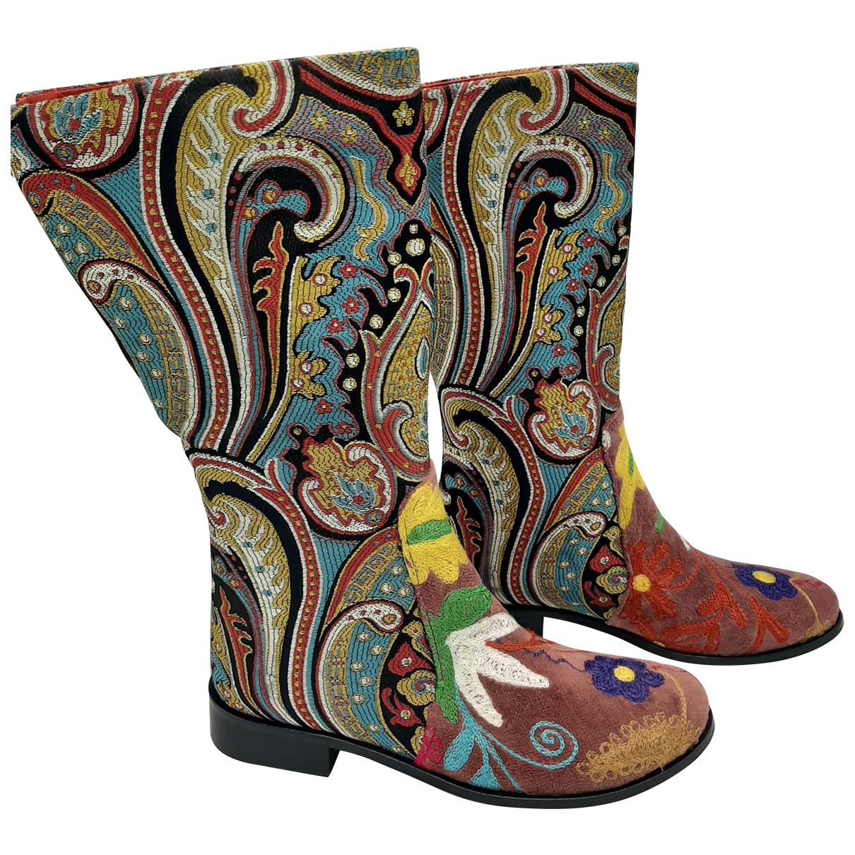 Non Signé / Unsigned Hippie Chic Leather Boots for Women 39 EU