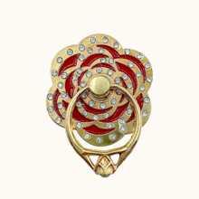 Rhinestone Decor Flower Shaped Phone Ring