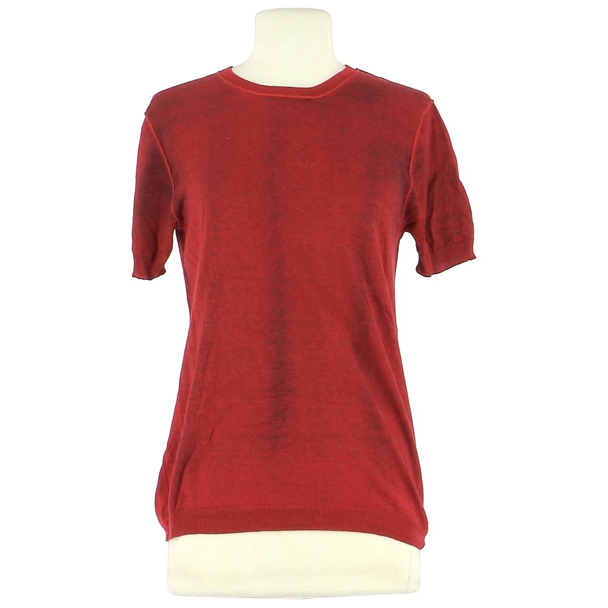 Jil Sander - Pull   pour femme en soie - rouge