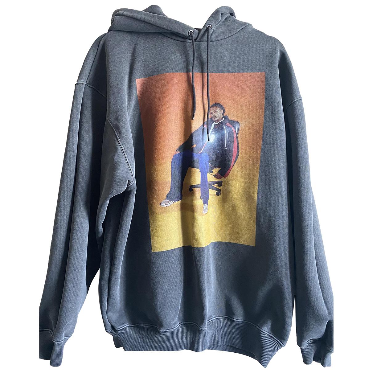 Balenciaga \N Pullover.Westen.Sweatshirts  in  Anthrazit Baumwolle