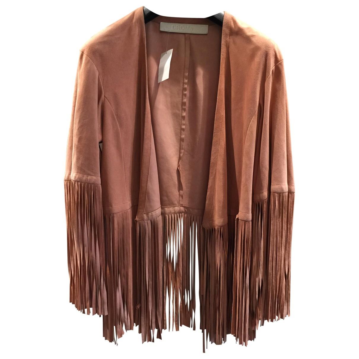 Drome - Blouson   pour femme en cuir - rose