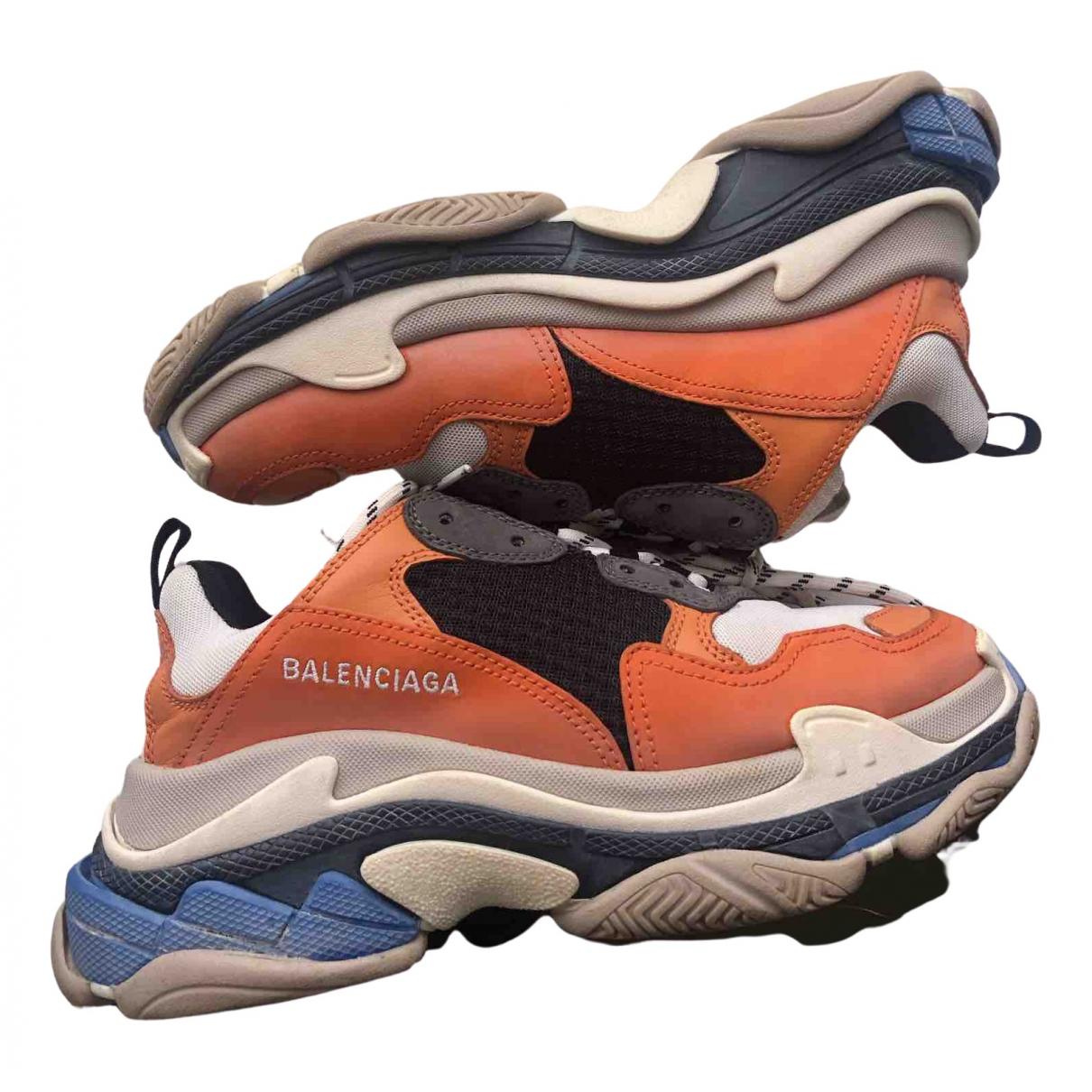 Balenciaga - Baskets Triple S pour homme en cuir - orange