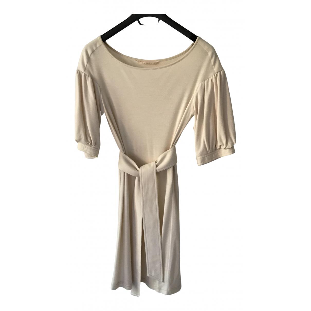 Tara Jarmon N Ecru Wool dress for Women 38 FR