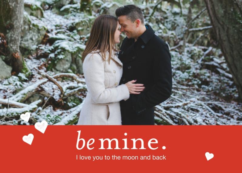 Valentine's Cards 5x7 Folded Cards, Standard Cardstock 85lb, Card & Stationery -Be Mine
