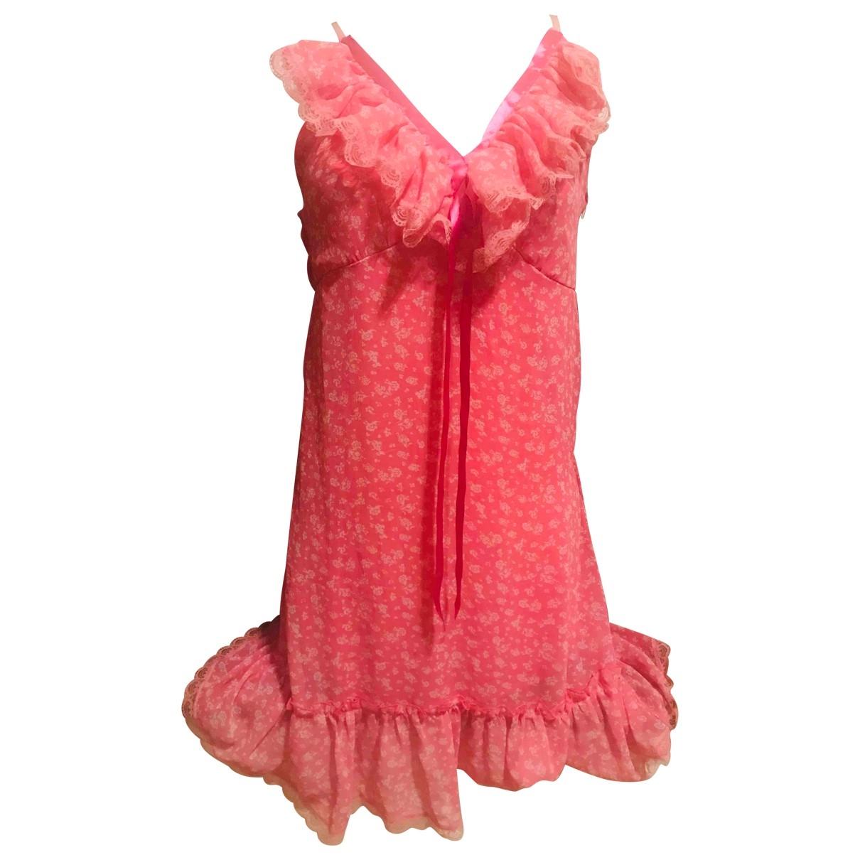 Non Signé / Unsigned \N Pink Silk dress for Women L International