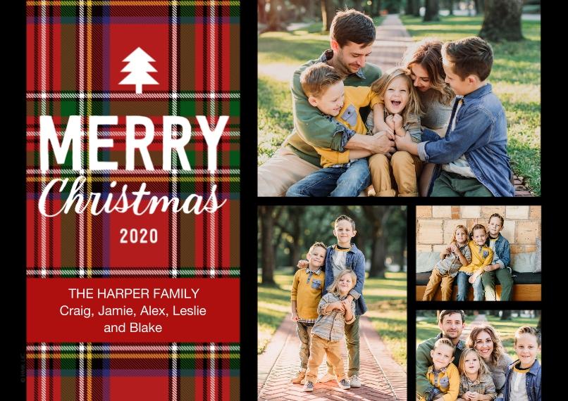 Christmas Photo Cards 5x7 Cards, Premium Cardstock 120lb, Card & Stationery -Plaid Merry Christmas 2020 by Hallmark