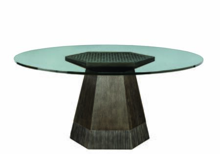 238224-230360 Geode - Bluff Dining Table with 60 Glass Top in Medium