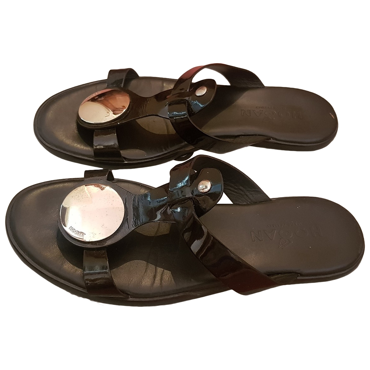 Hogan \N Sandalen in  Schwarz Lackleder