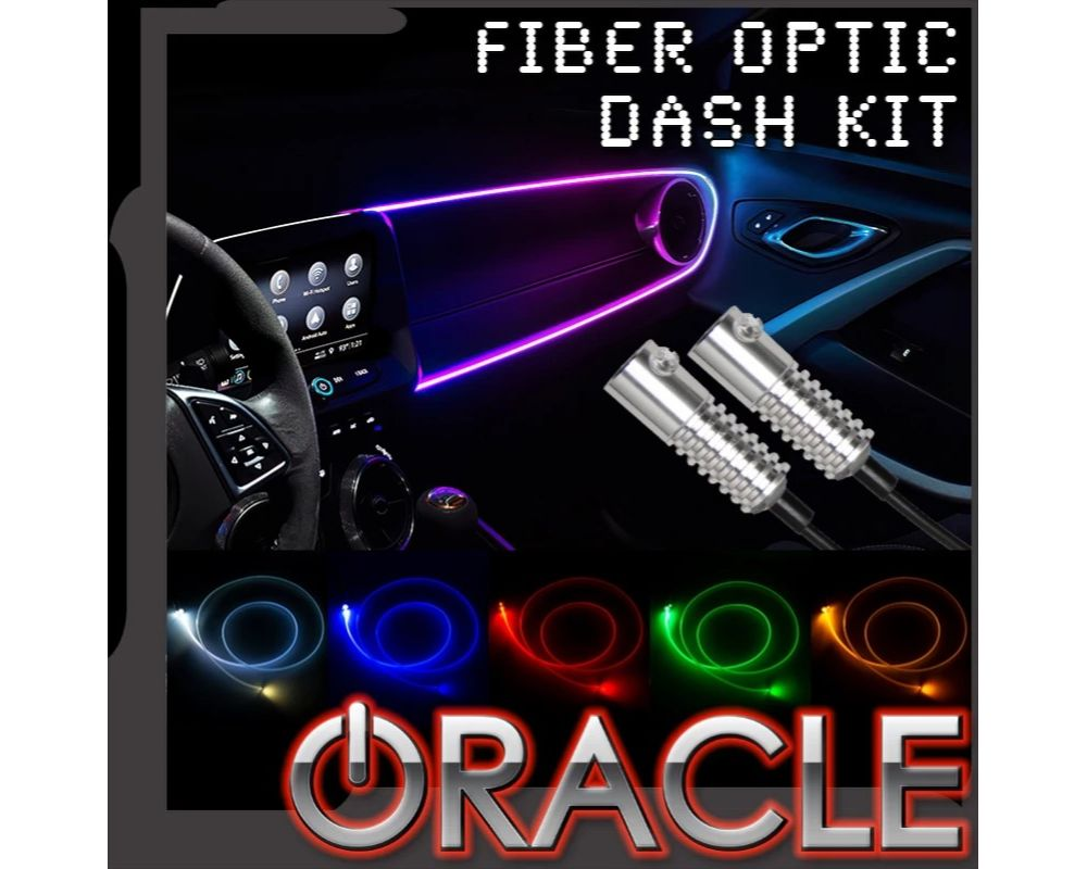 Oracle Lighting 4231-333-6 6-Piece LED Colorshift Fiber Optic Dash Kit - Universal