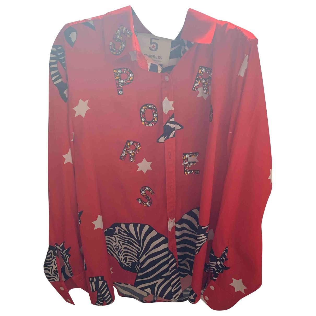 Non Signé / Unsigned \N Red  top for Women 46 IT