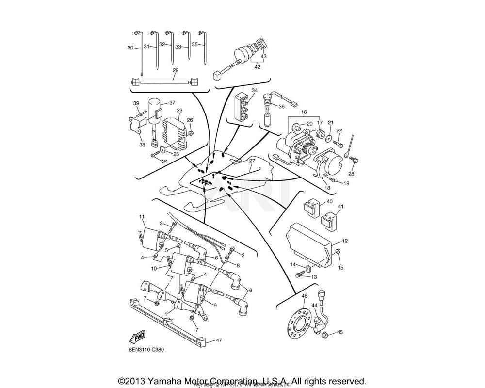 Yamaha OEM 8EK-82316-00-00 BRACKET, IGNITION COIL
