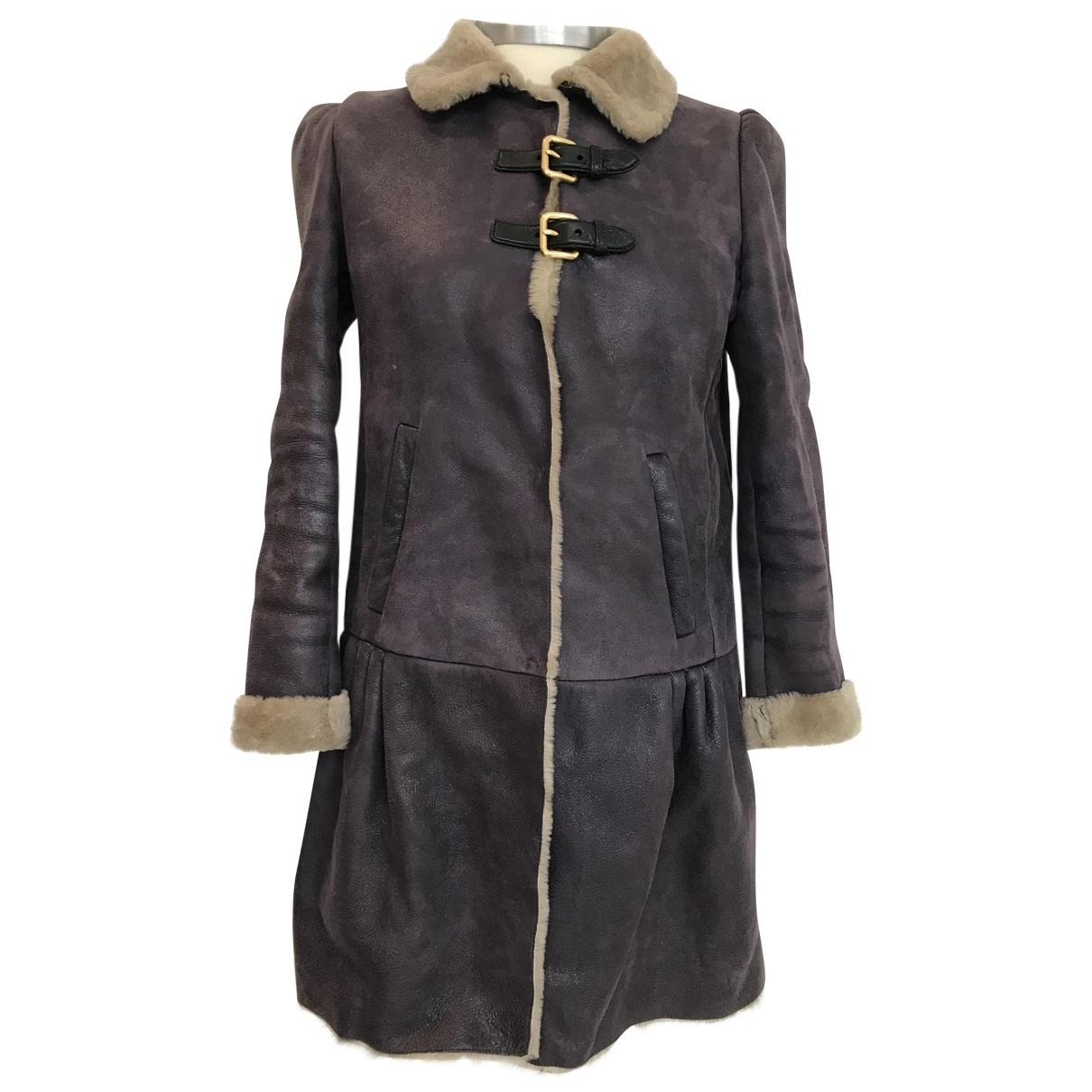 Miu Miu - Manteau   pour femme en mouton - violet