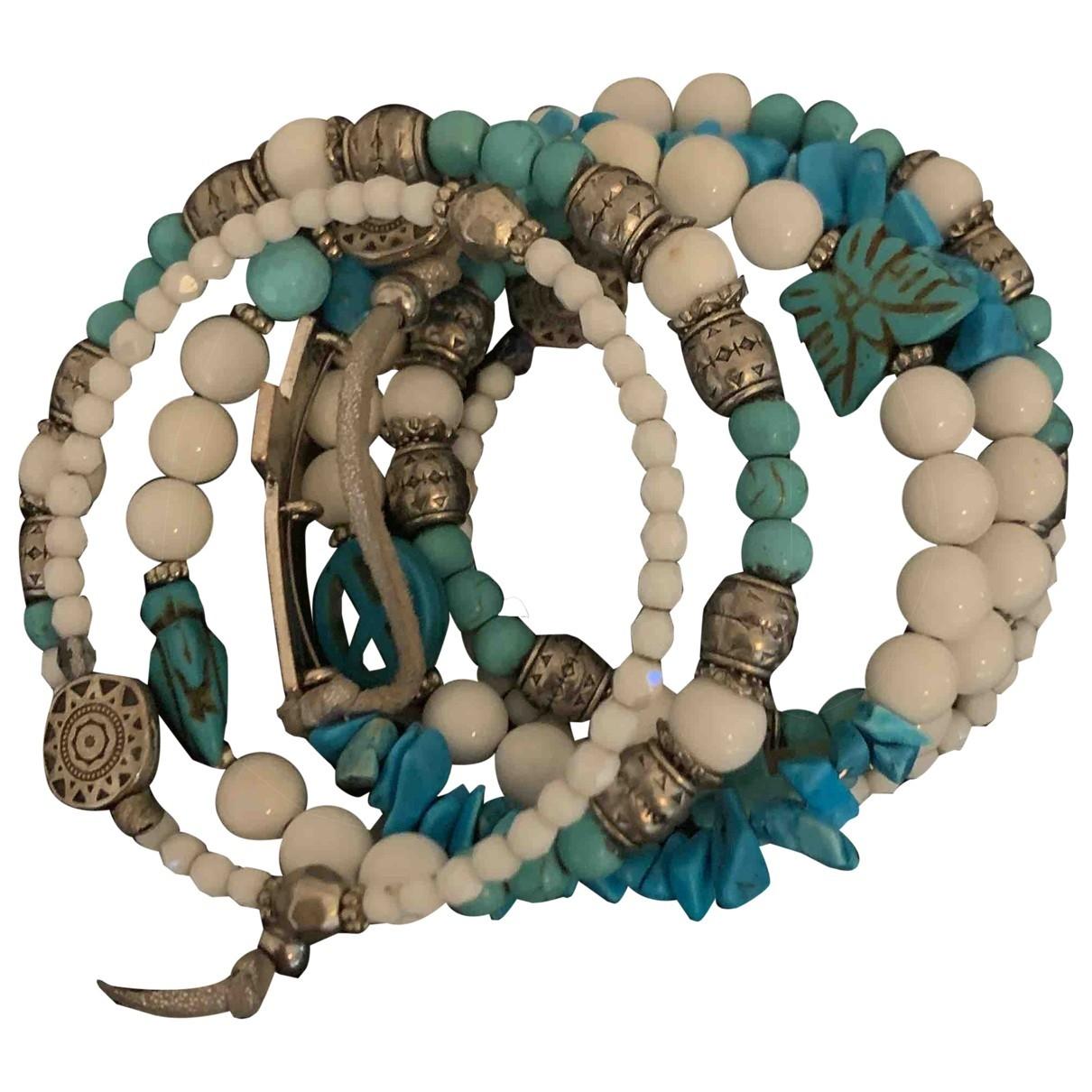 Non Signé / Unsigned Turquoises Multicolour Pearls bracelet for Women \N