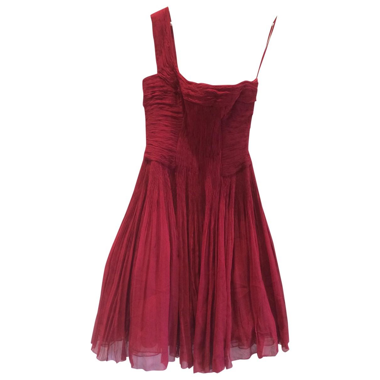Elie Tahari - Robe   pour femme en soie - rouge
