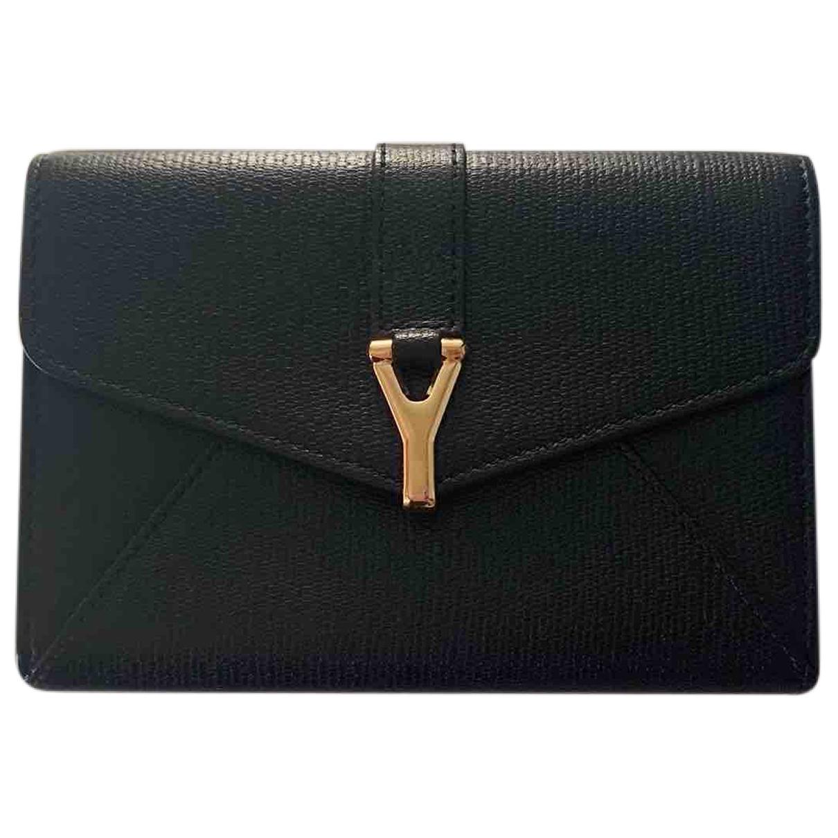Yves Saint Laurent \N Black Leather Purses, wallet & cases for Women \N