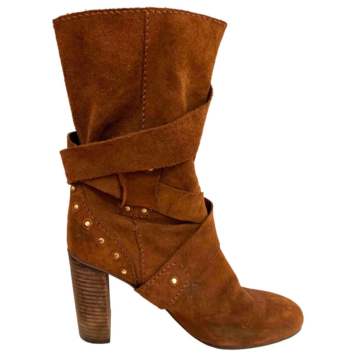 See By Chloé \N Brown Suede Boots for Women 37.5 EU