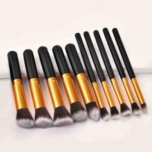Set de cepillo de maquillaje duo fibre 10 piezas
