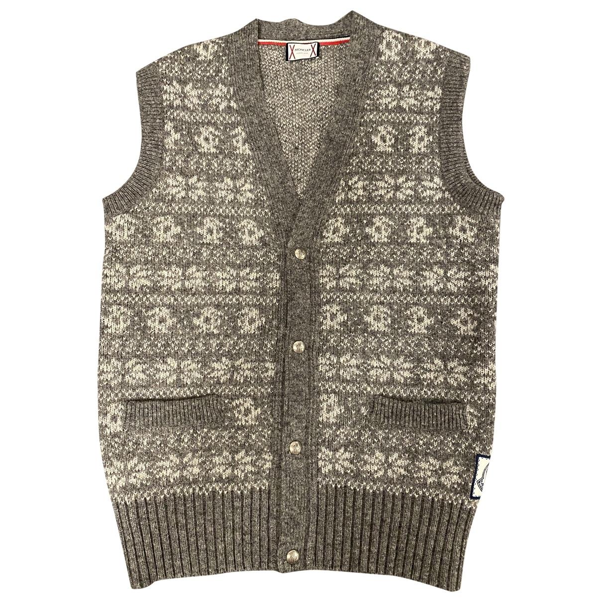 Moncler - Pulls.Gilets.Sweats   pour homme en laine - gris