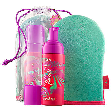 tarte Glow with the Faux Foaming Self-Tanner with Mitt, One Size , No Color Family