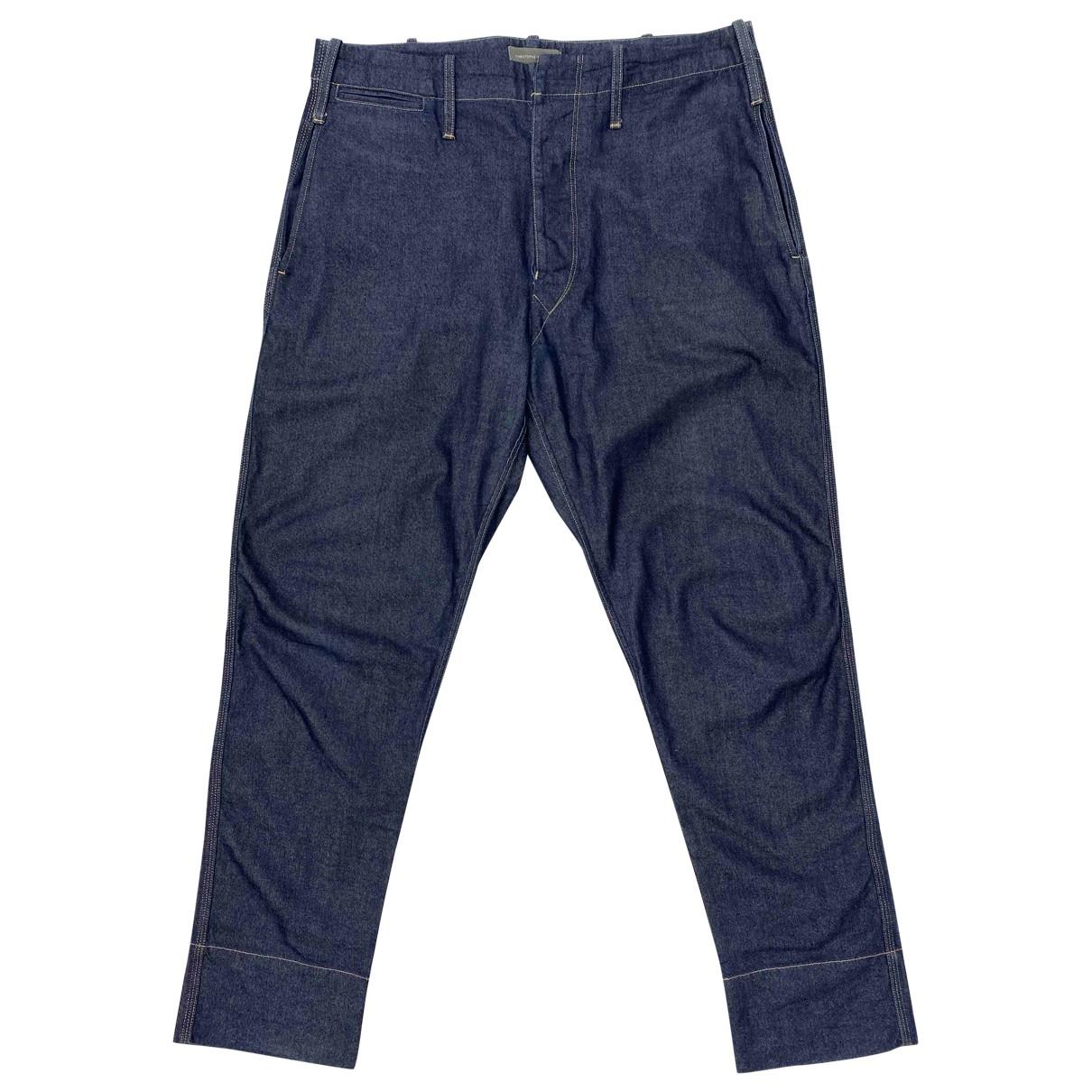 Lemaire \N Blue Denim - Jeans Trousers for Men 52 IT