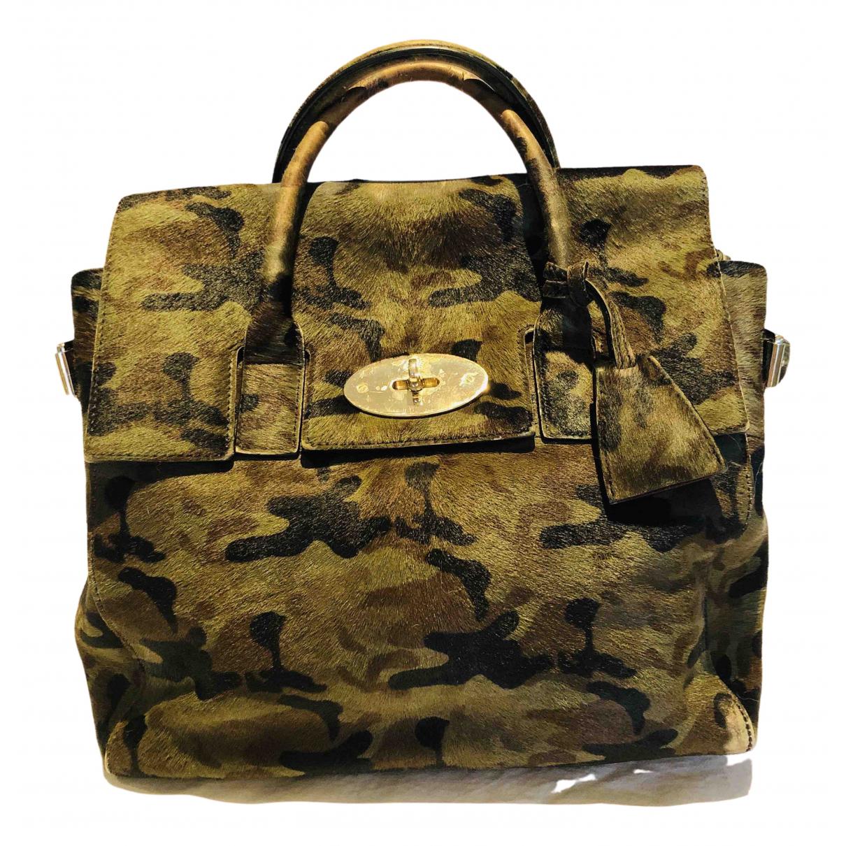 Mulberry Cara Delevigne Khaki Pony-style calfskin handbag for Women \N