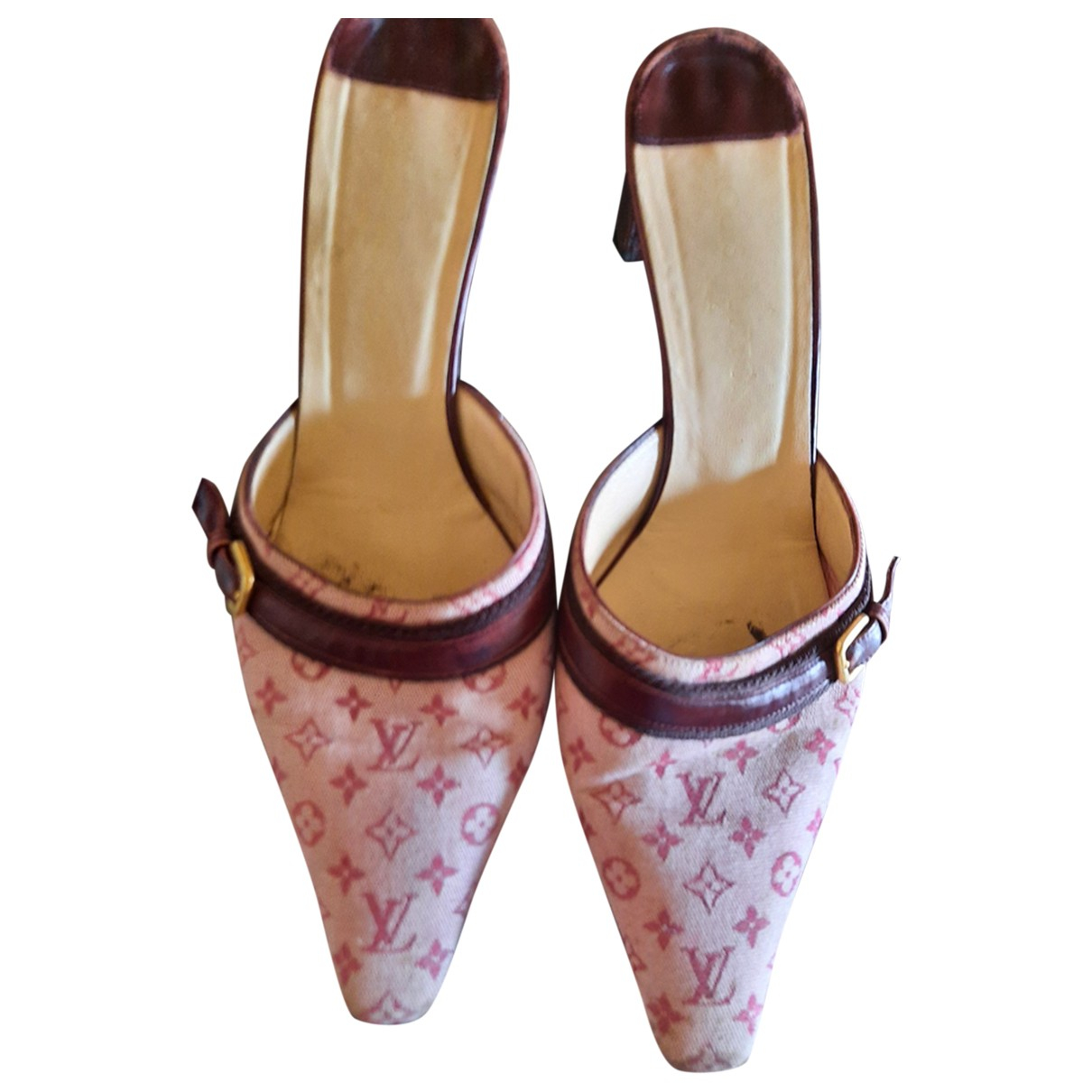 Louis Vuitton - Sandales   pour femme en toile - bordeaux