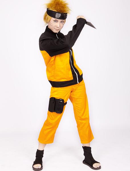 Milanoo Halloween Traje para cosplay de Uzumaki de Naruto