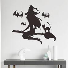 Wandaufkleber mit Halloween Hexe Muster