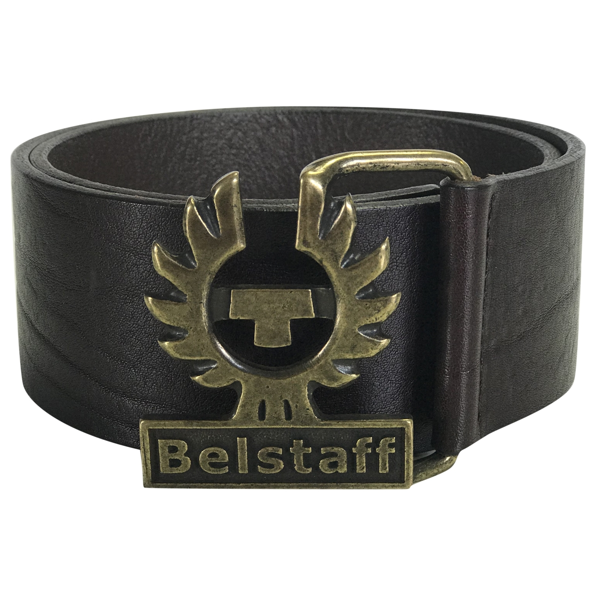 Belstaff \N Black Leather belt for Women 70 cm