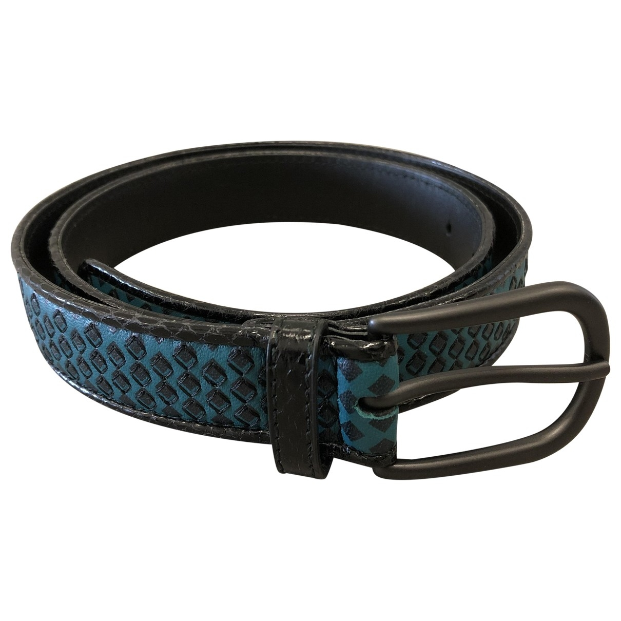 Bottega Veneta \N Black Leather belt for Women 85 cm