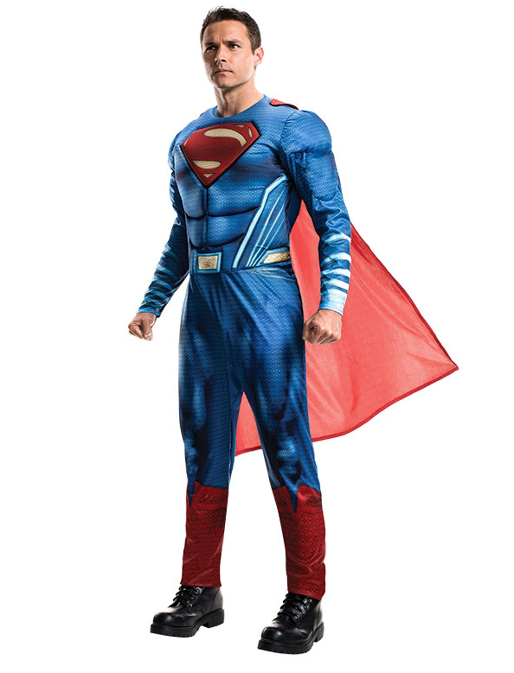 Herren-Kostuem Superman DOJ Erwachsener Grosse: Standard / STD