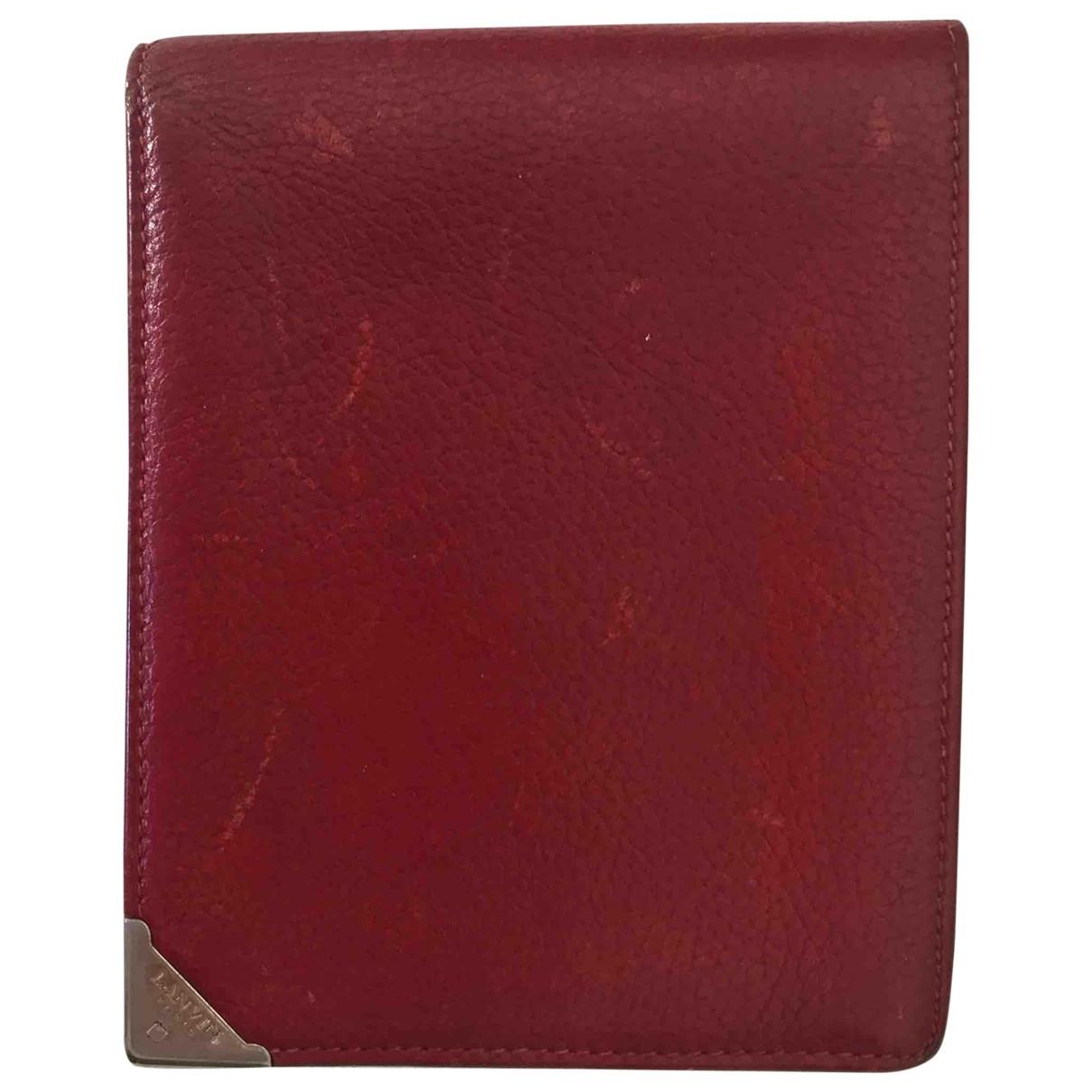 Lanvin \N Portemonnaie in  Rot Leder
