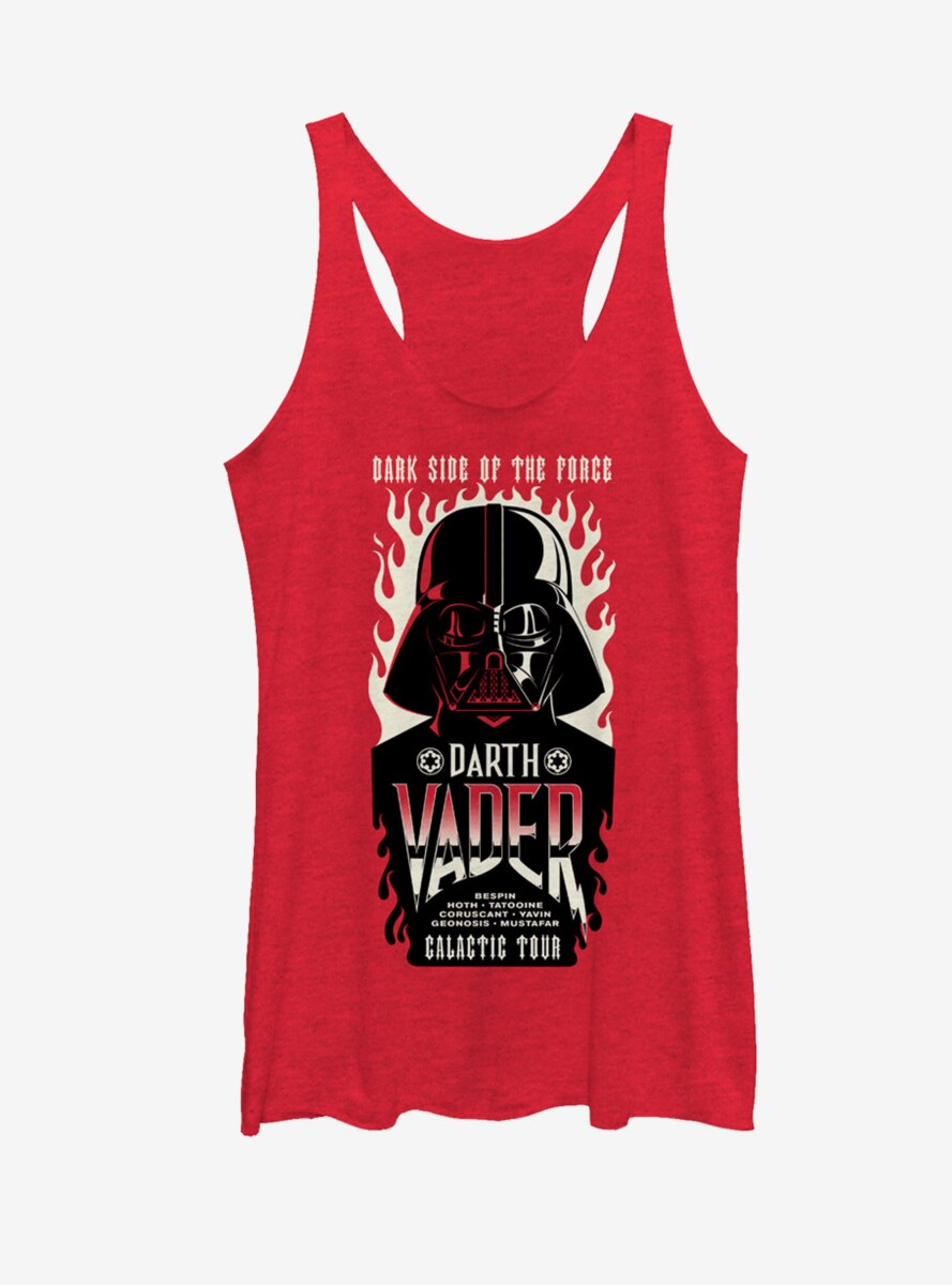 Star Wars Dark Side Concert Poster Womens Tank